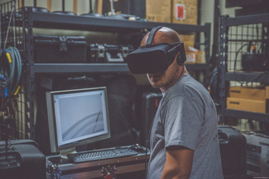 Virtual Reality being used in real-time